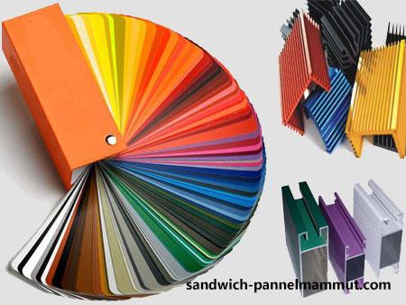 رال رنگی ساندویچ پانل