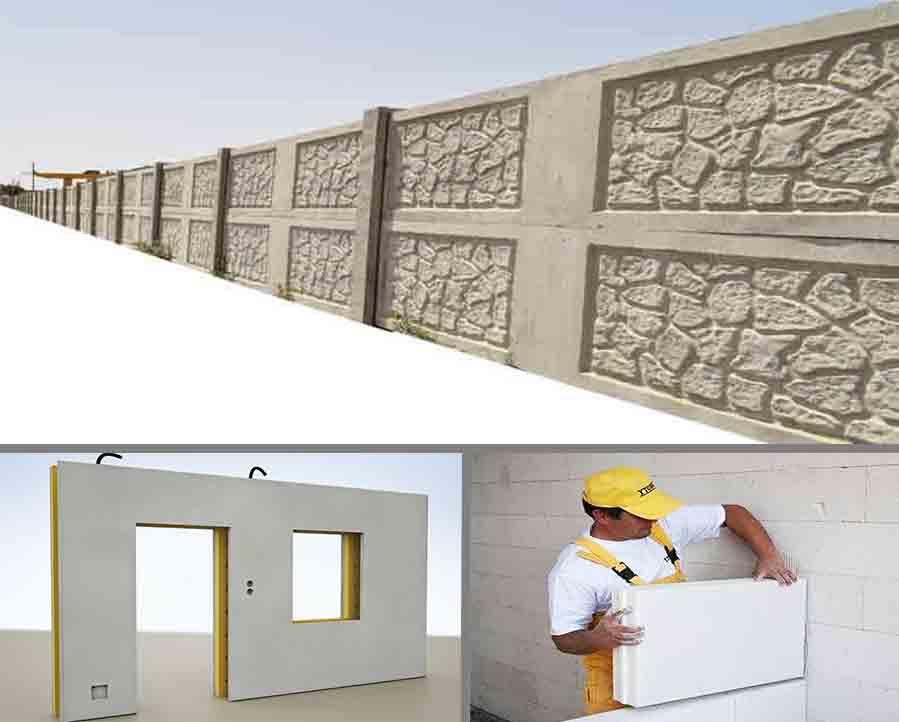 معرفی انواع دیوار پیش ساخته
