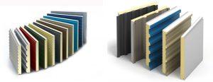 معرفی انواع پوشش های ساندویچ پانل